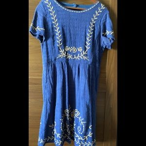 Lucky Brand Limited Edition Embroidery Dress, M